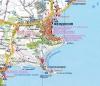 Карта достопримечательностей Феодосии.  Отдых в Феодосии (кликните для увеличения).